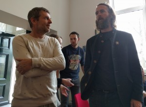 Ewald Arts (founder of Bier&cO) and Greg Koch (founder of Stone)