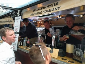 Steve Gammage of Bronckhorster Brewing Company served his own beer