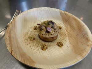 Zult of pig's cheek and smoked duck liver in beer sauce